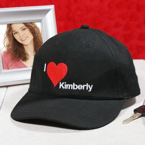 Personalized I Love You Hat