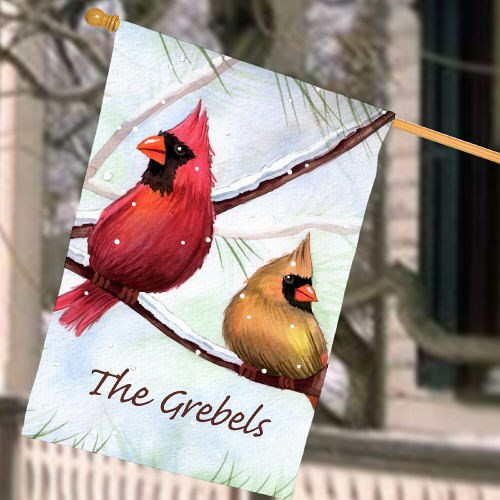Personalized Cardinals House Flag 83037582L