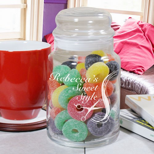 Personalized Hair Stylist Sweet Treat Jar