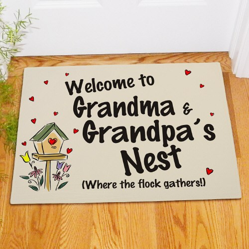 Personalized Family Nest Welcome Home Doormat
