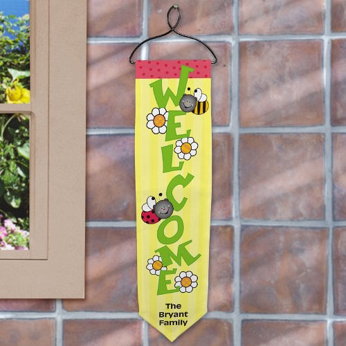 Personalized Spring Welcome Banner U529628