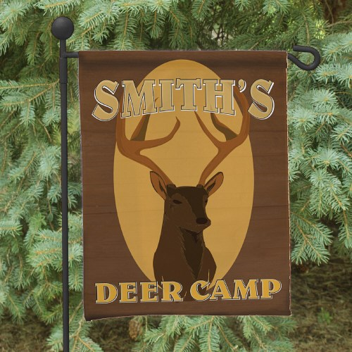 Deer Camp Personalized Garden Flag 83025472