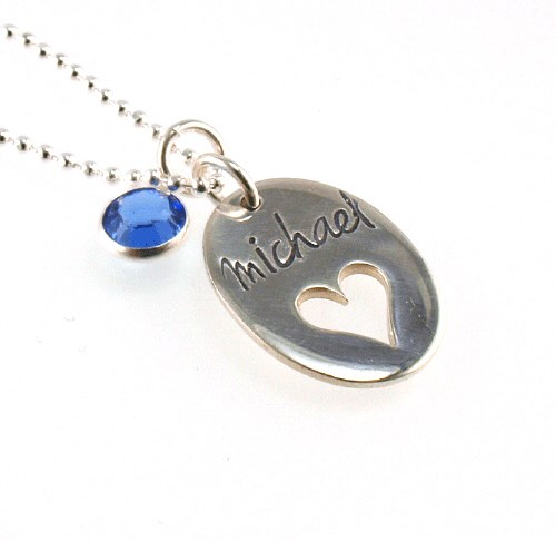 On My Heart Hand Stamped Necklace  DKNDA712