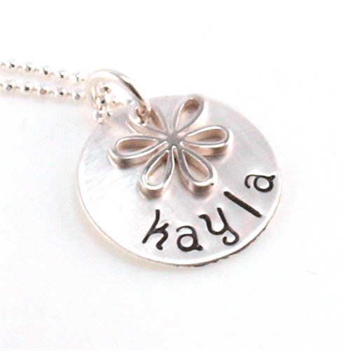 Personalized Flower Girl Necklace DNA1079