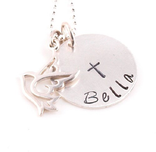 Dove Hand Stamped Necklace DNDA561
