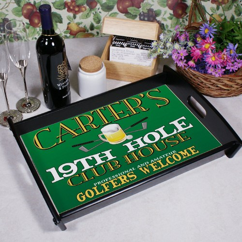 19th Hole Personalized Serving Tray 42245ST