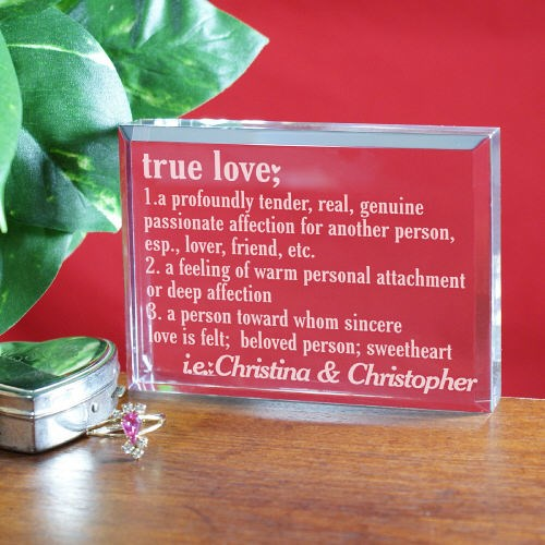 Personalized True Love Valentine Keepsake