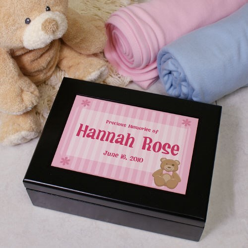 Custom Printed New Baby Keepsake Box