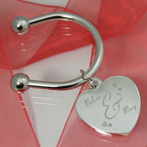 Engraved Couples Keychain G11991