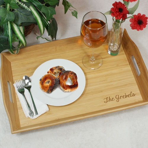 Engraved Bamboo Serving Tray L621262