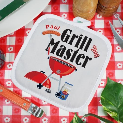 Personalized Grill Master Hot Pad U353642