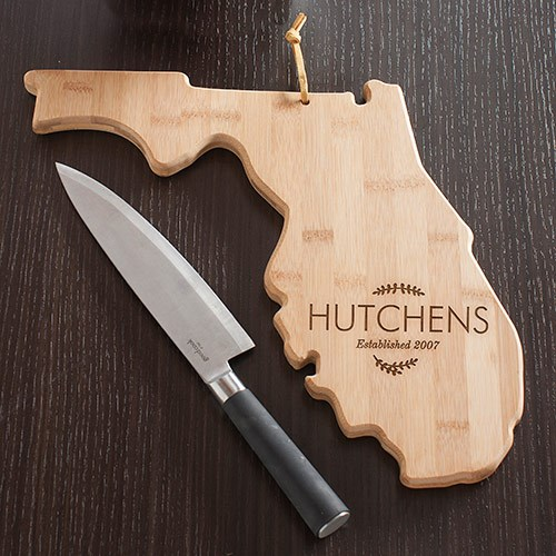 Personalized Family Name Florida State Cutting Board L10621165FL