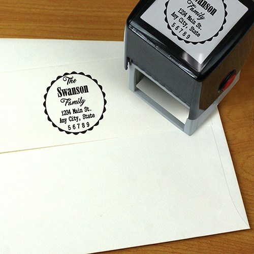Personalized Family Square Self Address Stamper L10836177