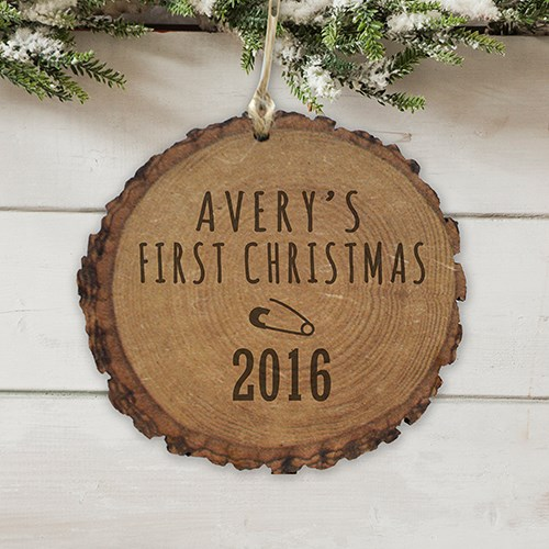 Baby's First Christmas Wood Ornament L7244166