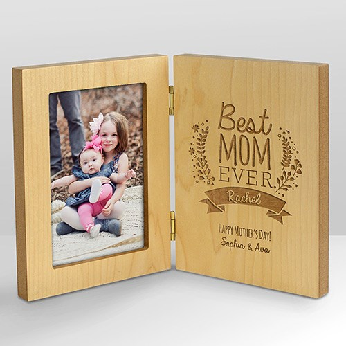 Engraved Best Mom Hinged Frame | Mother's Day Gifts