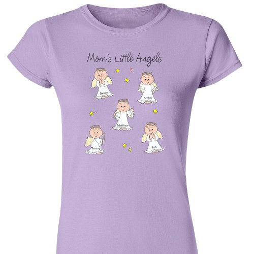 Little Angels Personalized Ladies Fitted T-Shirt 912269X
