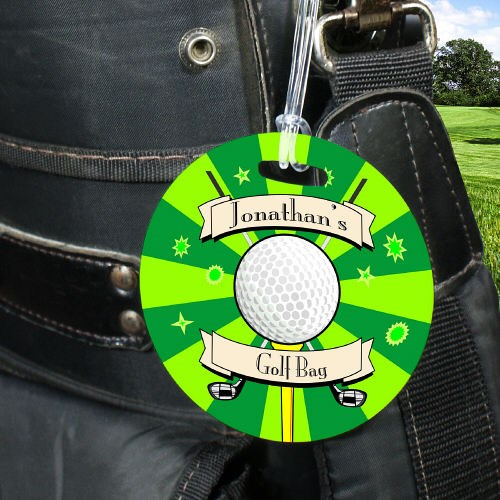 Unique Golf Bag Tags for Mom, Dad or Golfer