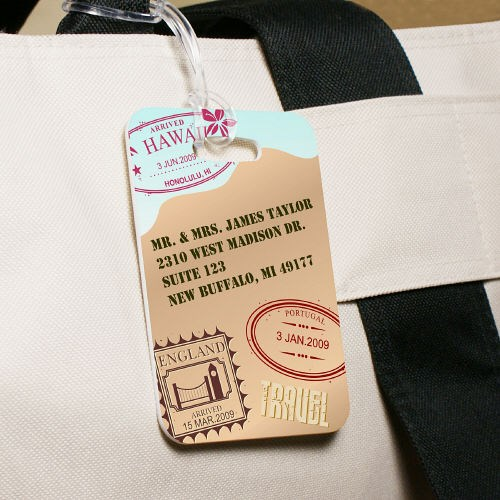 Custom Printed Travel Luggage Tag