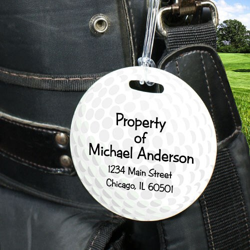 Personalized Golf Ball Bag Tags