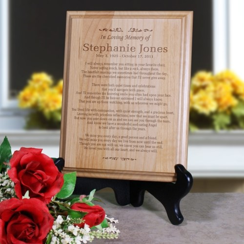 In Loving Memory Personalized  Wood Plaque