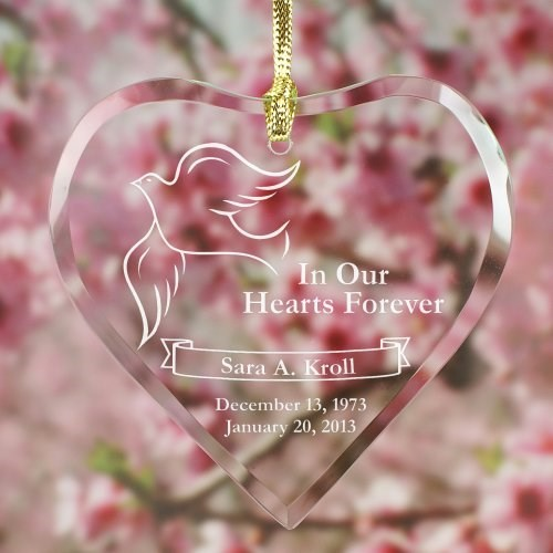 Engraved Memorial Heart Suncatcher 872134HSC