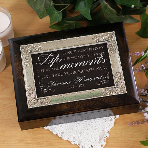 Personalized Memorial Music Keepsake Box | Personalized Memorial Gifts