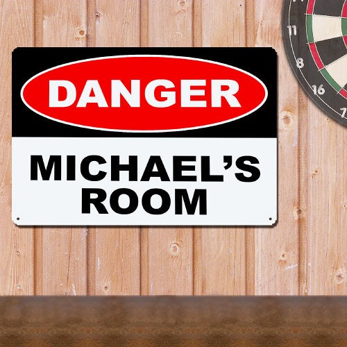 Personalized Danger Metal Wall Sign 629264