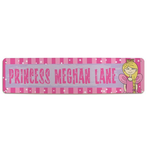 Personalized Princess Lane Metal Wall Sign 83136608