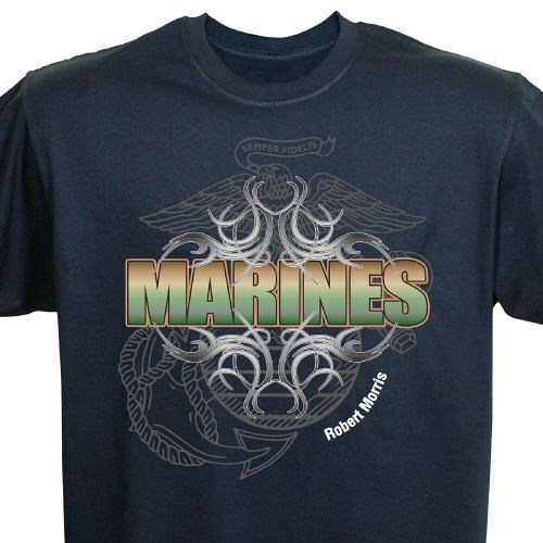 Custom Printed U.S. Marines Tee Shirts