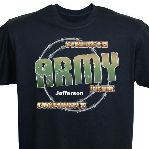 Personalized Army Tee Shirts