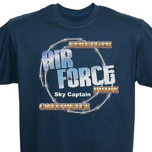 Personalized Air Force Pride Tee Shirts