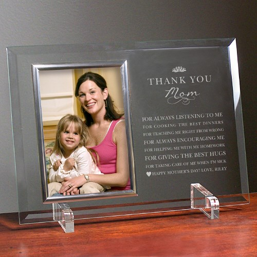 Engraved Thank You Mom Glass Frame 8575768SL