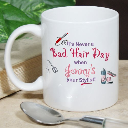 Personalized Hair Dresser Coffee Mugs