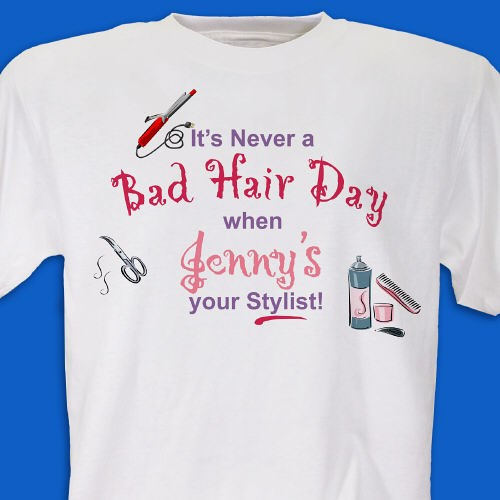 Personalized Hair Stylist T-shirt