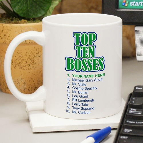 Personalized Top Ten Bosses Coffee Mug