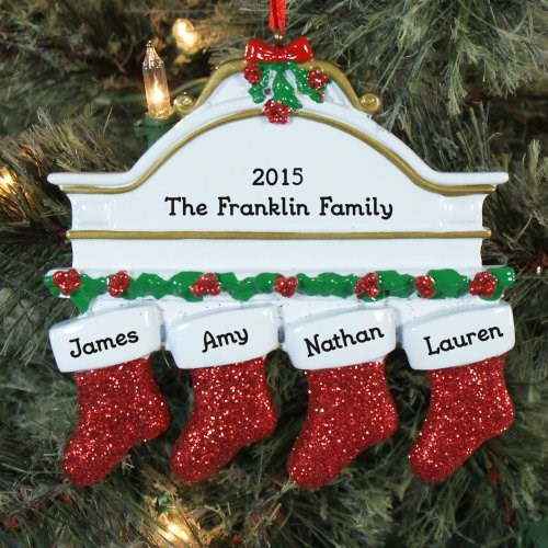 Personalized Christmas Mantle Ornament