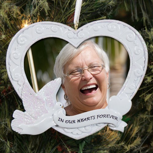 In Our Hearts Memorial Photo Ornament | Memorial Christmas Ornaments
