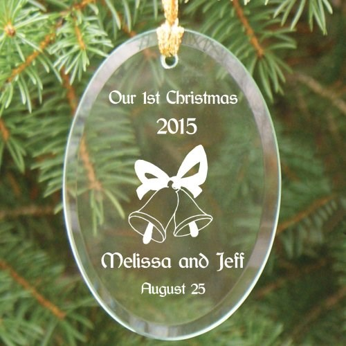 Engraved First Christmas Glass Ornament