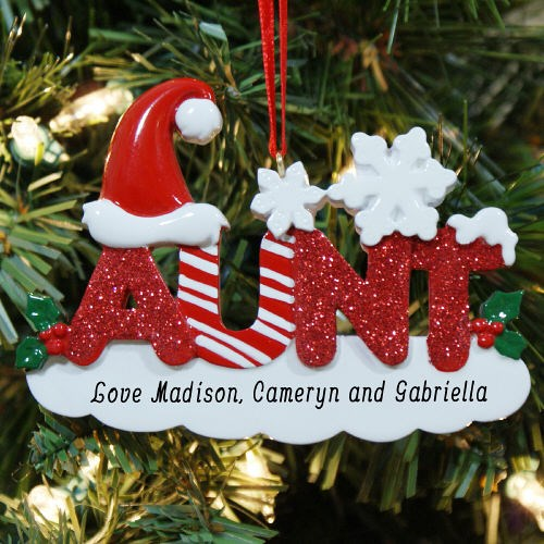 Personalized Christmas Ornaments for your Aunt