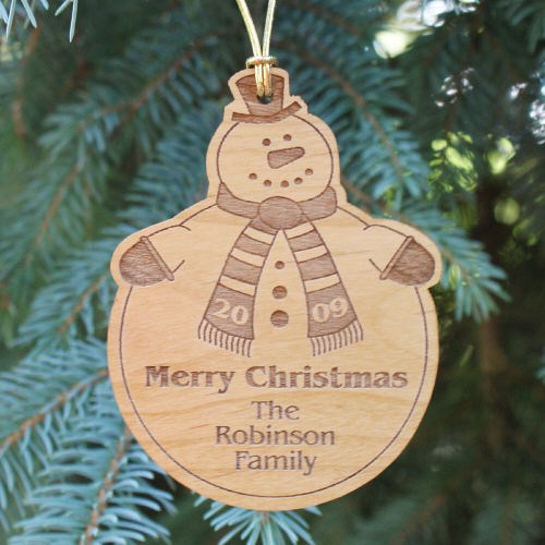 Personalized Christmas Snowman Ornaments for the Familiy
