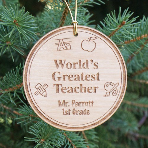Personalized Teacher Ornament Gifts