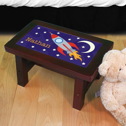 Personalized Rocket Step Stool U716071