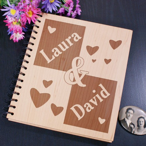 Engraved Photo Album for Couples
