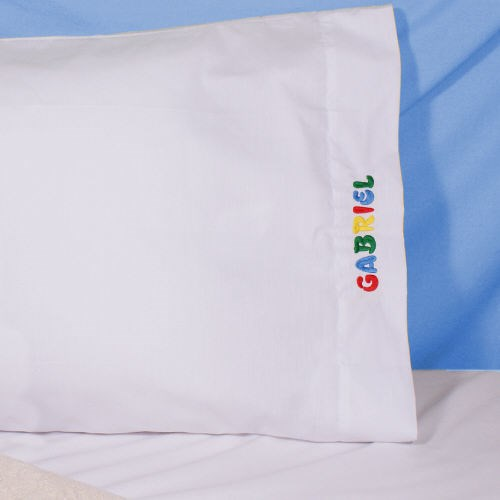 Embroidered Name Pillowcase