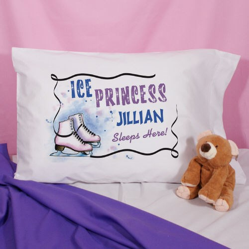Personalized Ice Skating Pillowcase 83038140