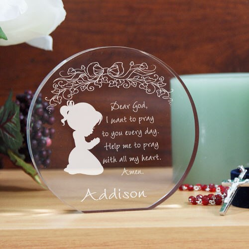 Engraved Girl's Prayer Keepsake 728622R