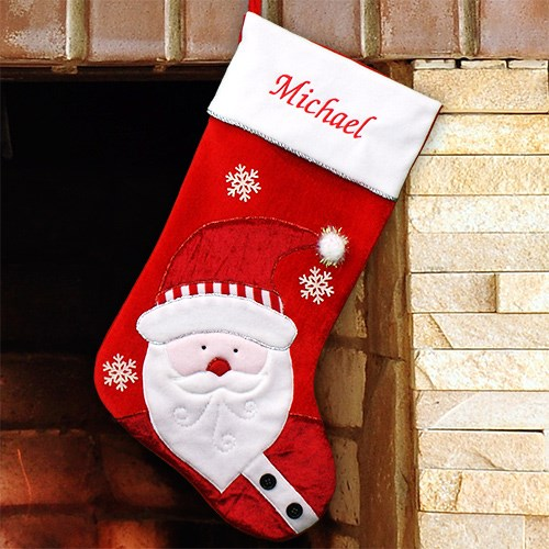 Embroidered Santa Christmas Stocking S34669
