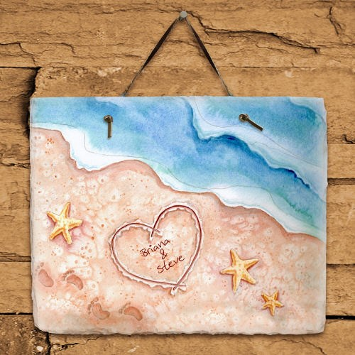 Shores of Love Personalized Slate Plaque 63137447