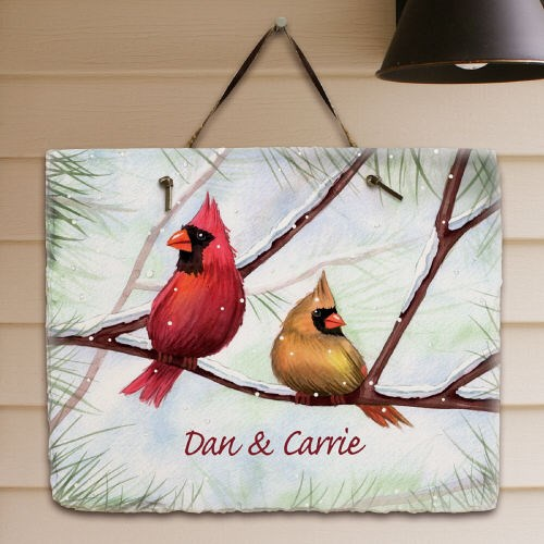Personalized Cardinals Welcome Slate Plaque 63137587