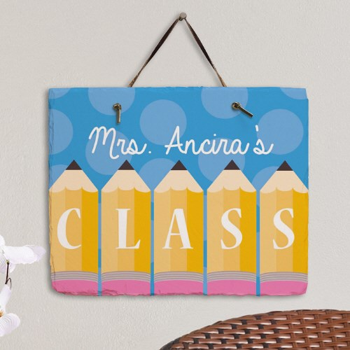 Personalized Teachers Class Slate Plaque 63178087